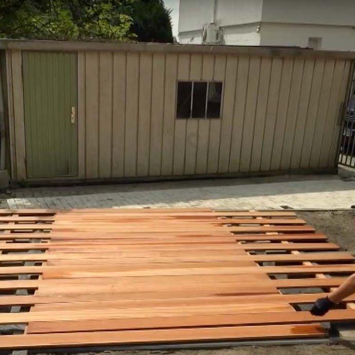 Holzterrasse Selber Bauen Anleitung Mit Video Obi Holzterrasse Holzterrasse Selber Bauen Douglasie Terrasse