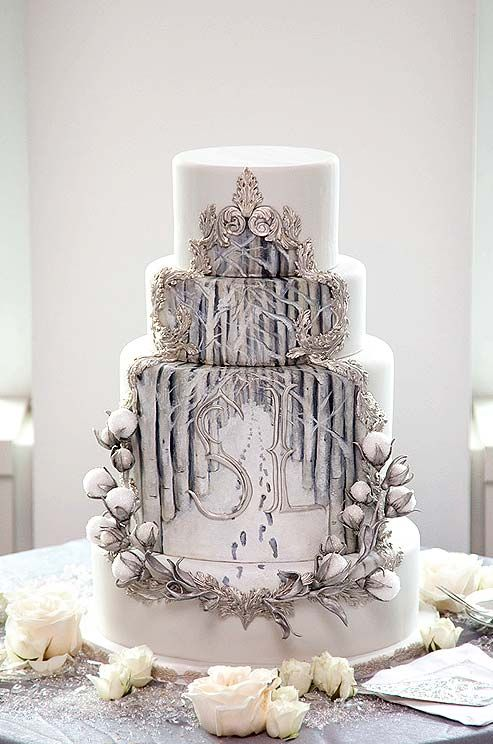 17 Best ideas about Winter Wedding Cakes on Pinterest ...