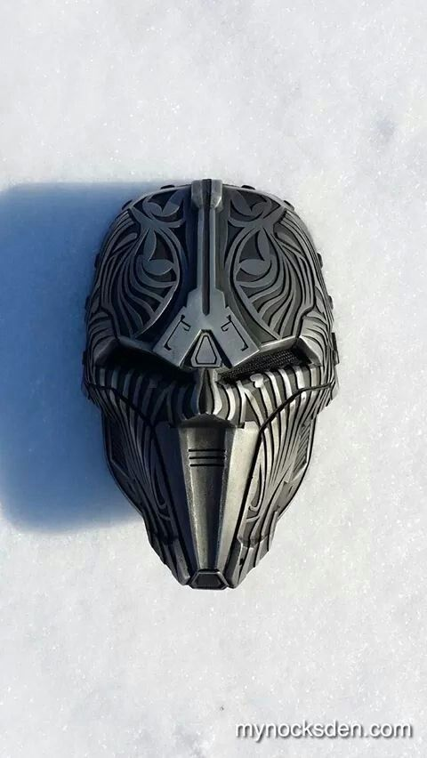 Sith mask - could bondo in the details, leaving it flat.