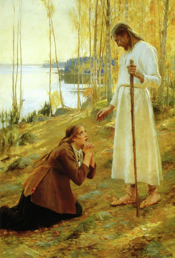 Christ and Mary Magdalene by Albert Edelfelt