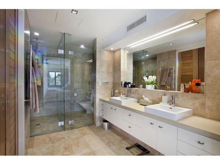 Modern bathroom design with twin basins using chrome - Bathroom Photo ...
