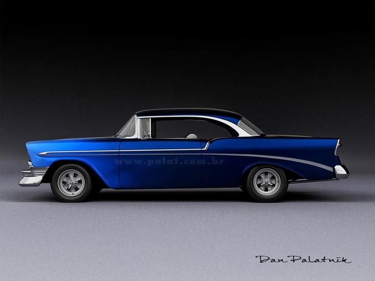 1956 Chevrolet Bel Air Sport Coupe Custom