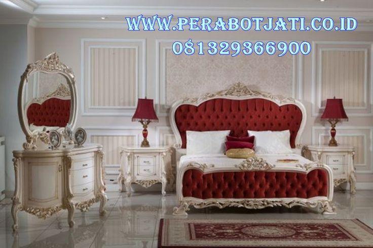 Interior Set Tempat Tidur Ukir Mewah Desain Kamar Tidur Utama