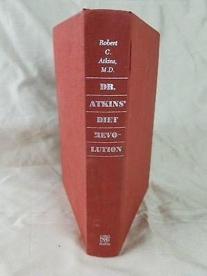 Vintage Dr. Robert C. Atkins Diet Revolution Hardcover 18th Printing Book Paleo!