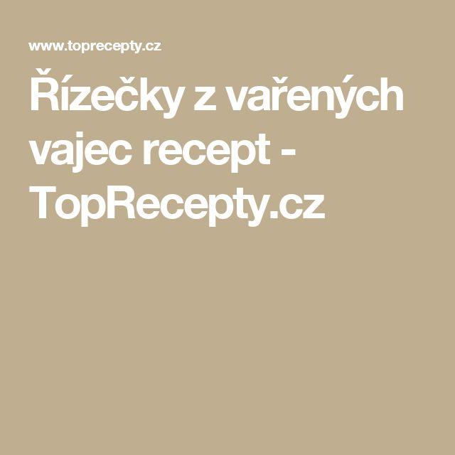 Řízečky z vařených vajec recept - TopRecepty.cz
