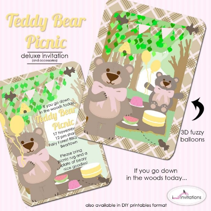 213 best images about Teddy Bear Party – Teddy Bears Picnic Party Invitations