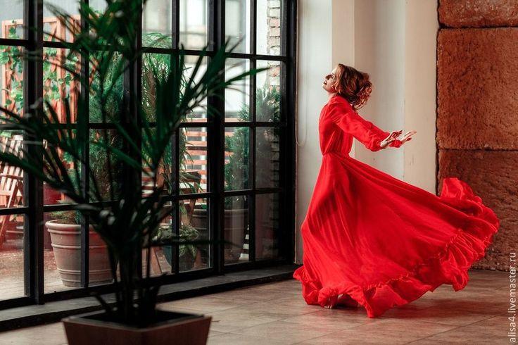 Купить платье прозрачное - ярко-красный, прозрачное, сетка, шифон, бант, трикотаж, рюши, оборка