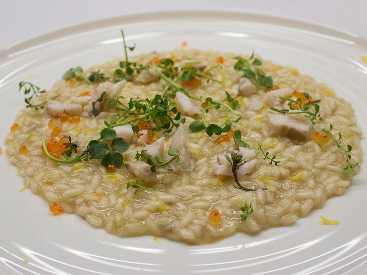 Risotto al branzino, uova di trota e crescione - qbquantobasta | Ricette