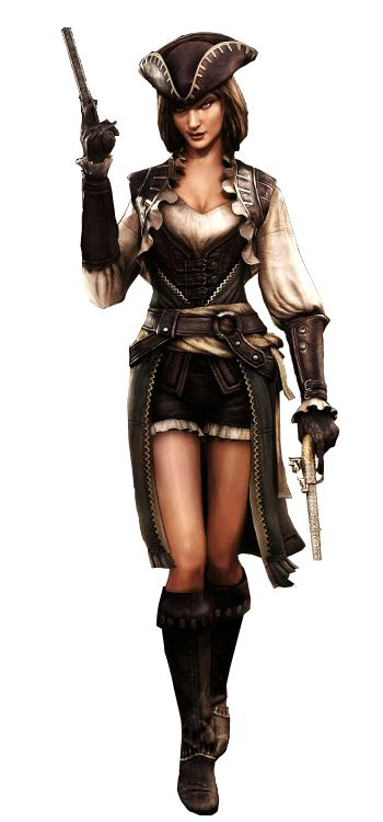 assassin's creed  black flag  lady black  | Added by Gabriel Auditore