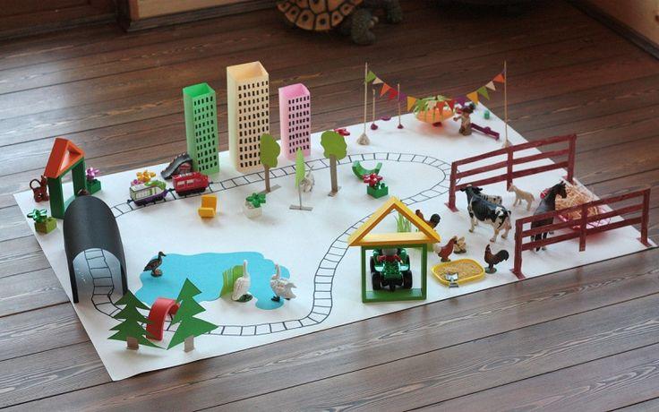 Stad bouwen met kleuters