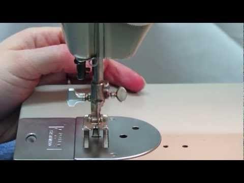 Pfaff 260 - Vorbereitung der Unterfadenspule und des Oberfadens - YouTube