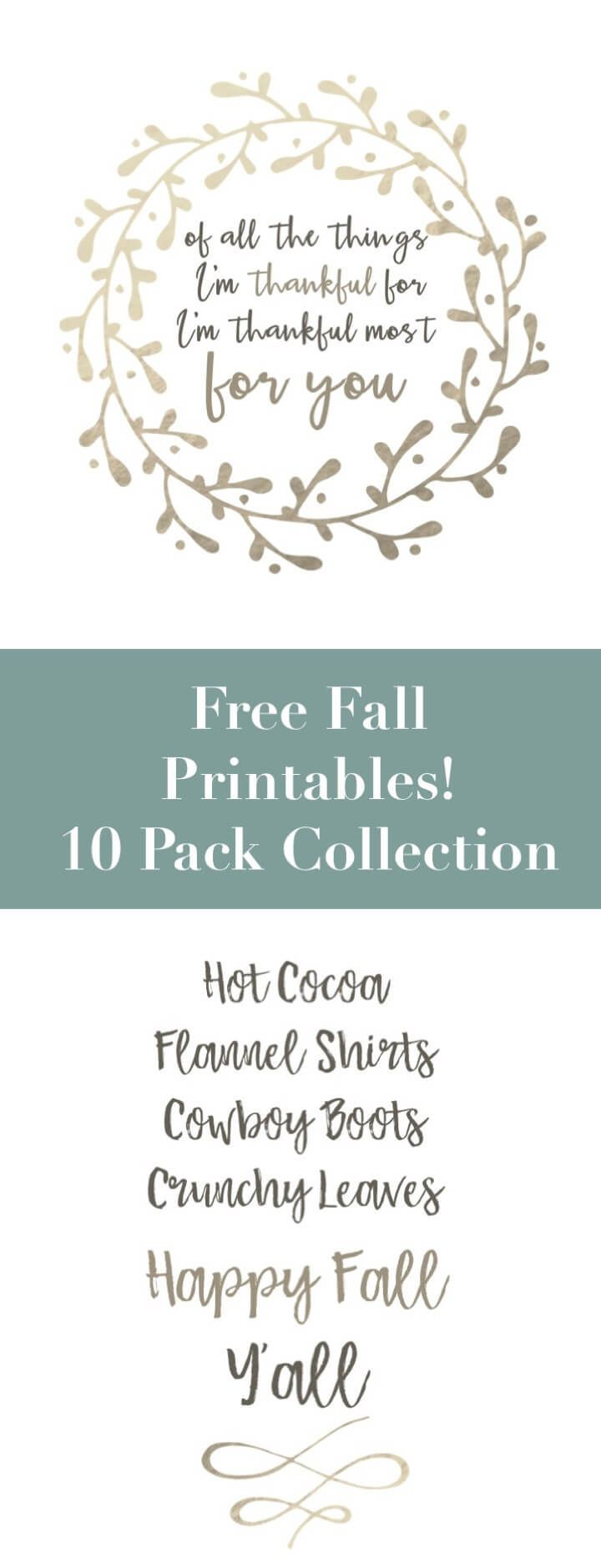 Download this gorgeous fall art print collection for free for easy, affordable, budget friendly DIY decor.  Perfect for your home, your walls, small spaces, apartments or living rooms and super budget friendly.  Printables!