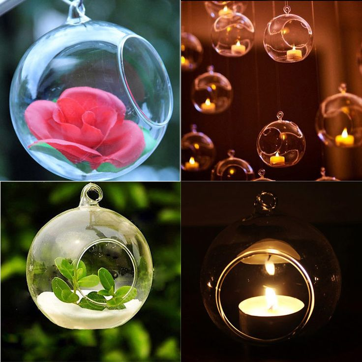 Bubble-Hanging-Clear-Glass-Tea-Light-Holder-Candle-Holder-Home-Decor-4Sizes