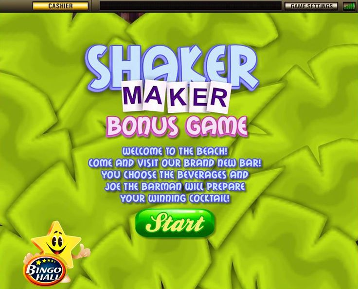 "The Shaker Maker Bonus Game is activated when three Lady ""Bonus"" symbols appear anywhere on reels 2, 3 and 4."