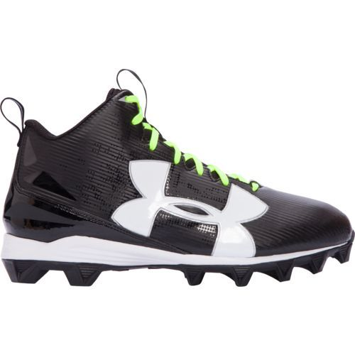 Under Armour Men's Crusher RM Wide Football Cleats (Black/White/Lime, Size 15) - Football Shoes at Academy Sports