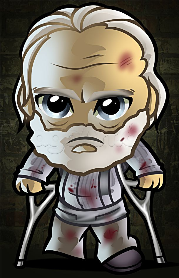 how to draw chibi hershel from the walking dead