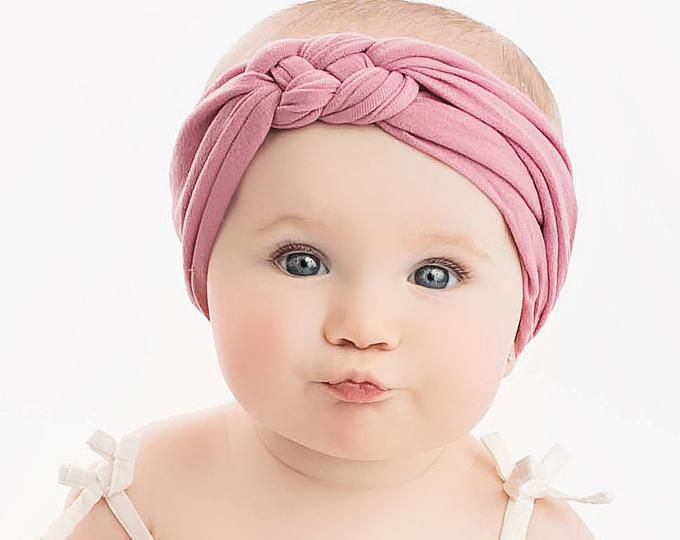 PICK ANY Nylon Baby Headbands, Stretch soft nylon headwraps, baby headband, newborn headbands, infant headband, CLASSIC knot nylon head wrap  – baby