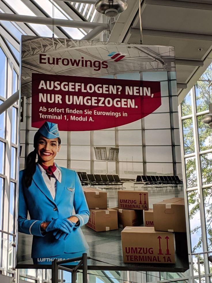 Eurowings am Flughafen München zieht um. Seit dem Start im