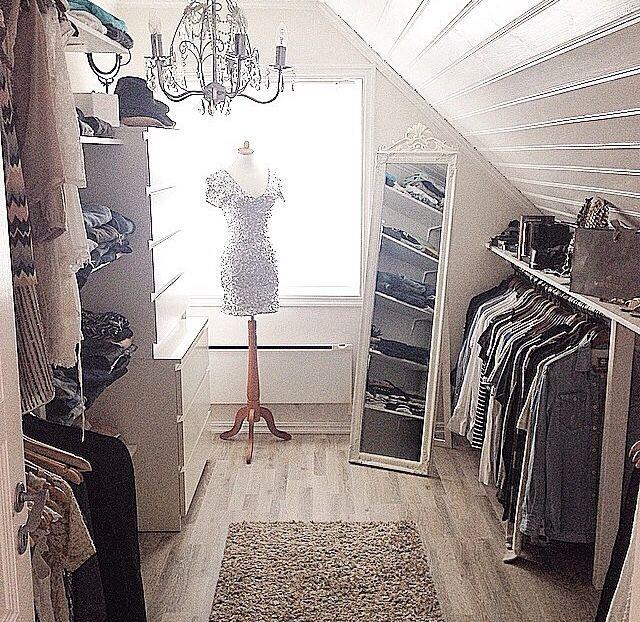 Make attic into closet