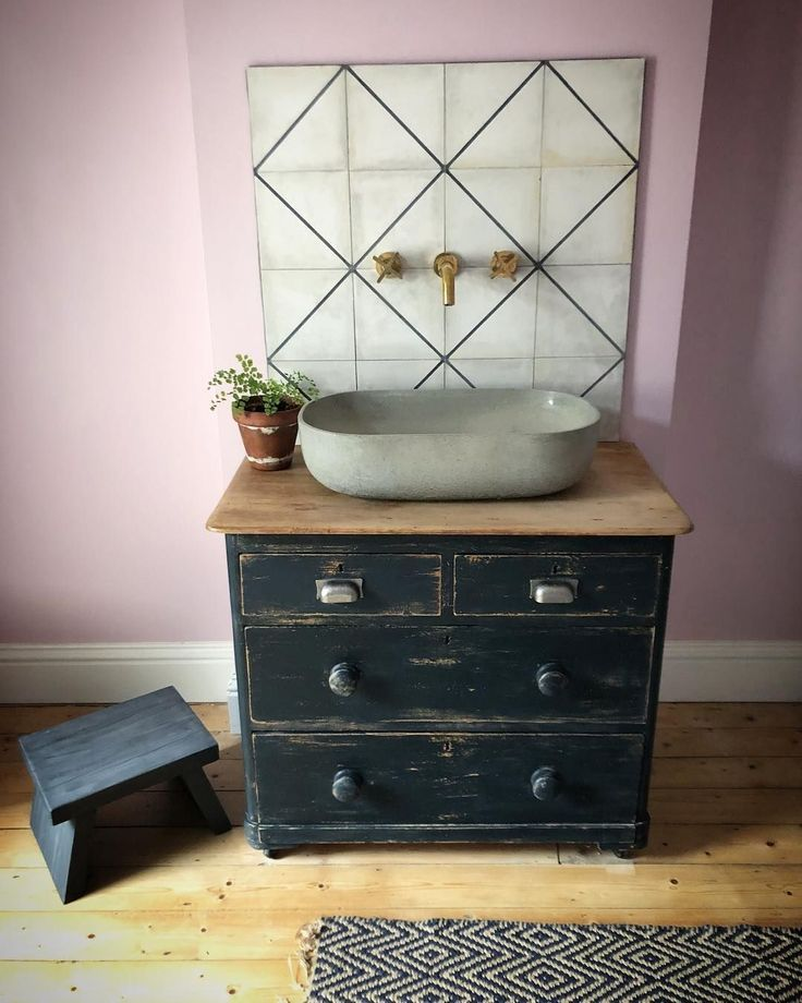 Our Bathroom Sink Unit Love Our Chest Of Drawers Bathroom Bathroomsinks Chest Bathroom Sink Units Vintage Bathroom Sinks Bathroom Sink Vanity Units