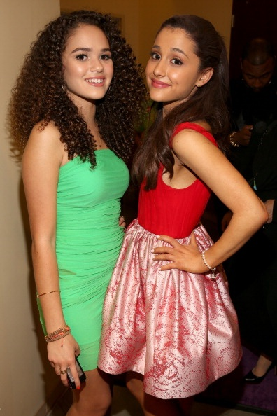 Ariana with Madison Pettis at the KCA