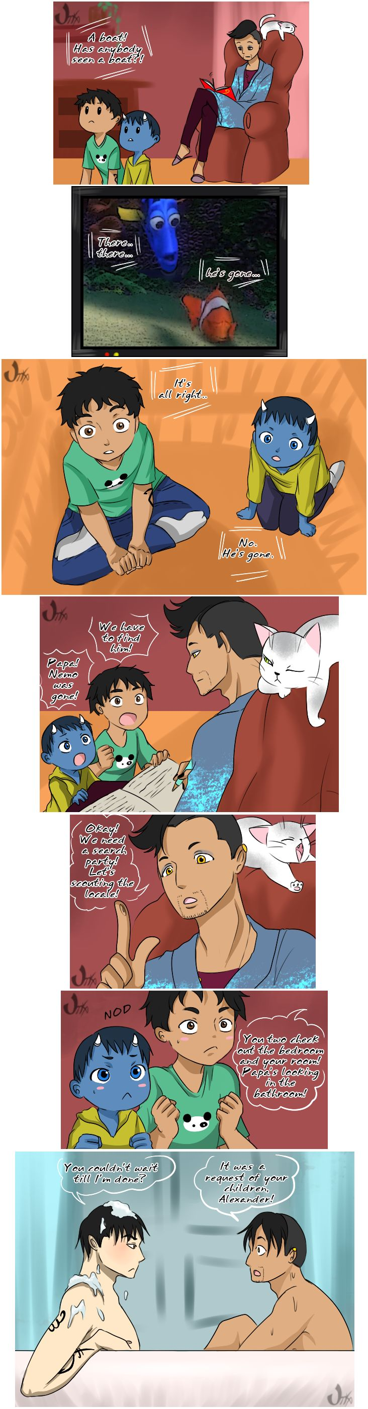 Request of your children ... Malec week 2017 theme Children ... From the hands off umkasandiary ... shadowhunters, alexander 'alec' lightwood, magnus bane, the mortal instruments, malec, max lightwood bane, chairman meow, blueberry, rafael lightwood bane, finding nemo