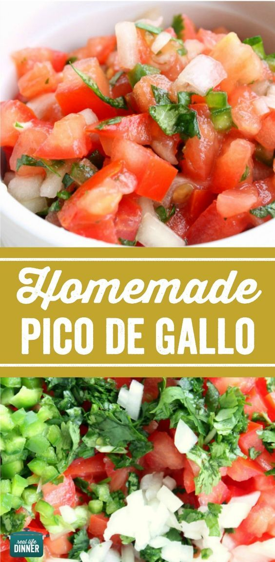 Authentic Pico de Gallo recipe. It's so easy to make. Perfect for all your favorite Mexican inspired meals. ~ http://reallifedinner.com