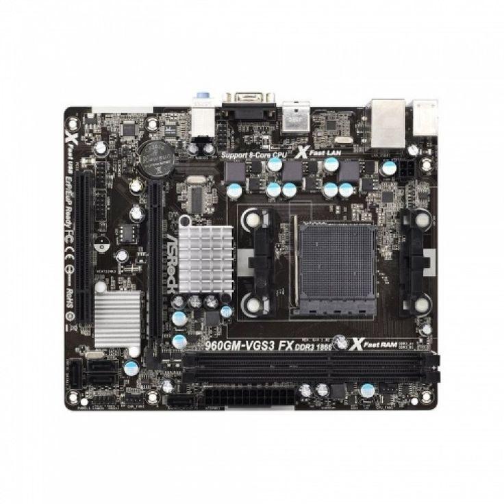Placa de baza AsRock chipset AMD mATX 960GM-VGS3 FX