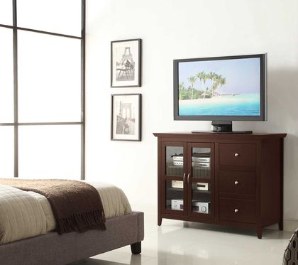 Convenience Concepts Sierra Highboy TV Stand TV Stand in Espresso