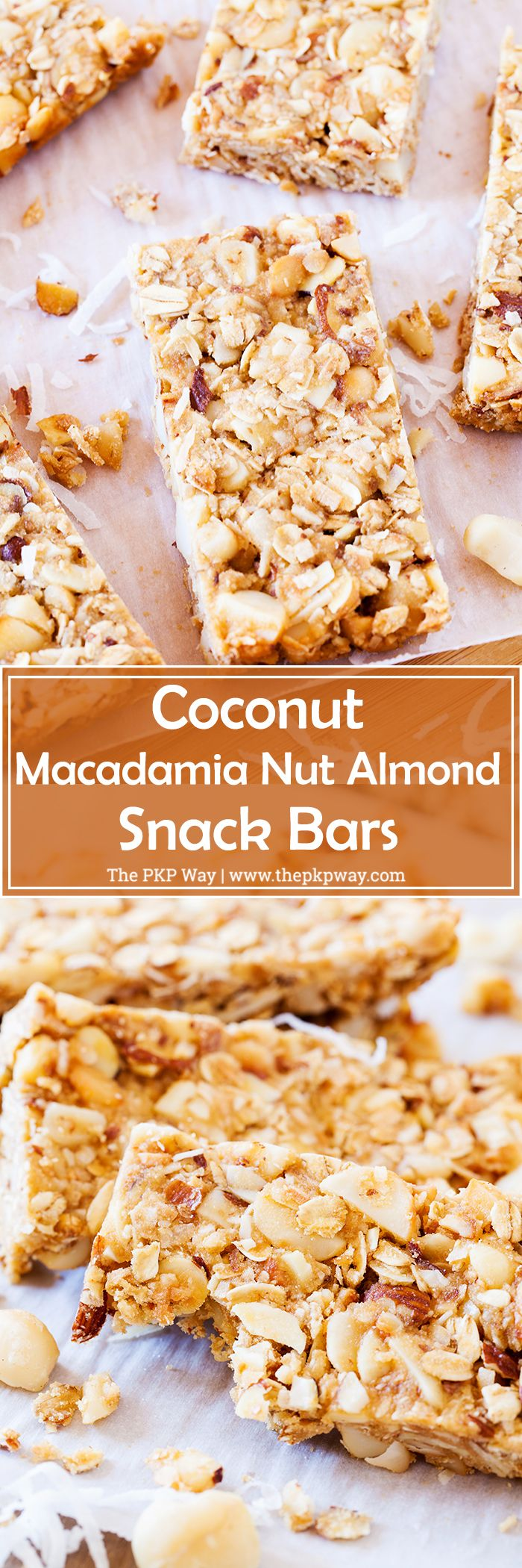 These Coconut Macadamia Nut Almond Snack Bars are perfect for an after school…