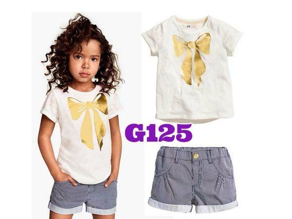 H&M Ribbon girlset (G125)    size 2-7    IDR 105.000