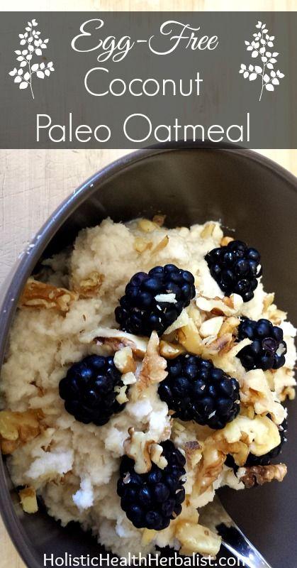 Egg-Free Coconut Paleo Oatmeal http://www.holistichealthherbalist.com/egg-free-coconut-paleo-oatmeal/