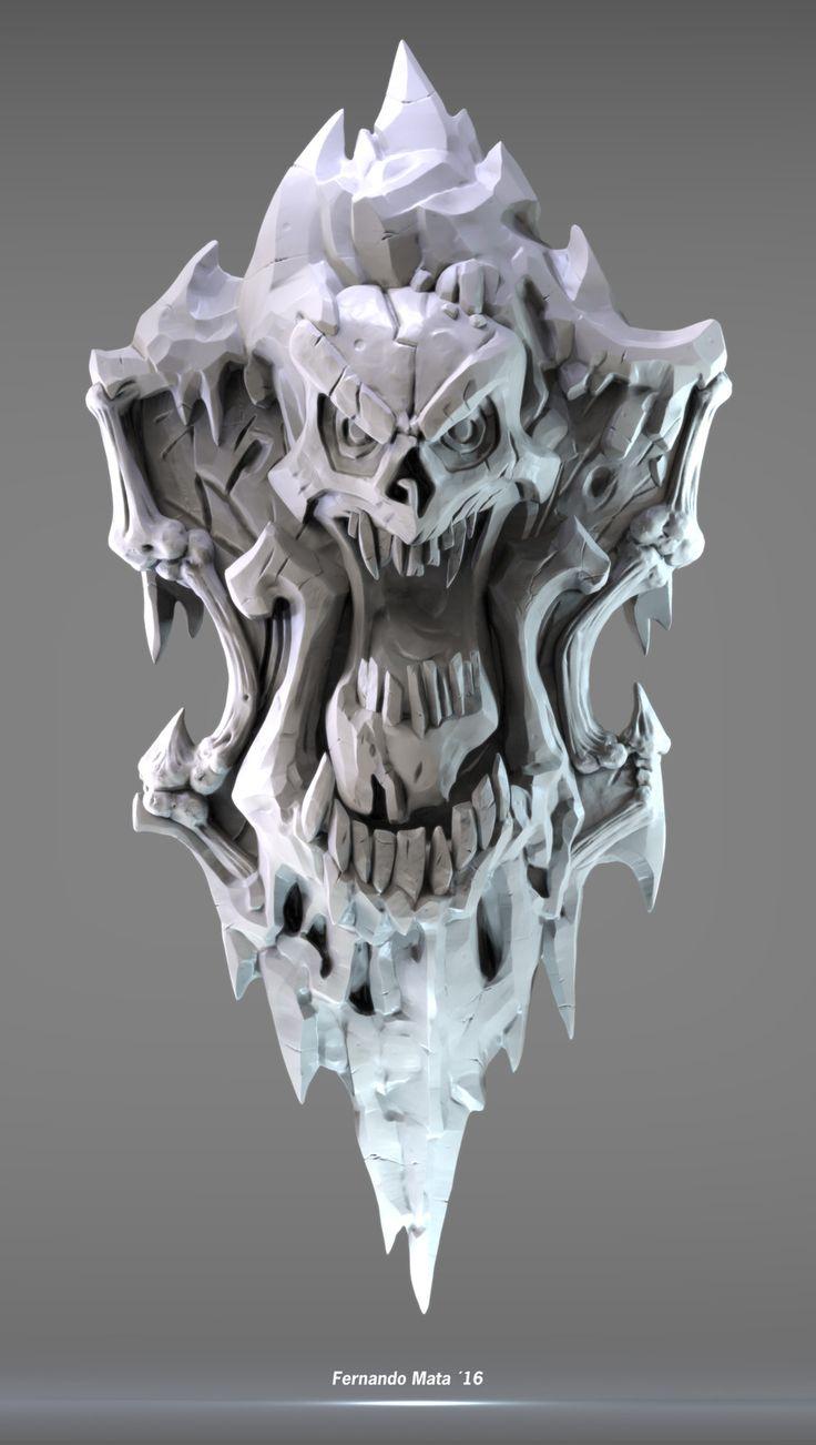Ice Noss Shield, fernando mata vázquez on ArtStation at https://www.artstation.com/artwork/K2Onr
