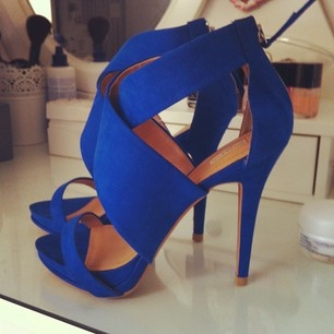 Cobalt Blue; I have these shoes in a coral orange. I really love this blue color though!