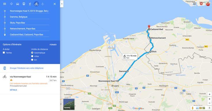 balade à vélo Bruges, damme, sluis et cadzand bad
