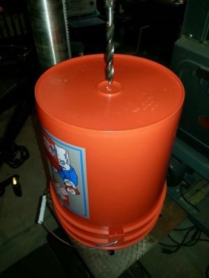 Expedient Family Survival Water Filter. Uses a Dome Micro-Ceramic water filter, 2 5-gallon buckets with lids, and a spigot.
