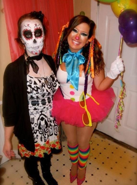 Sexy Homemade Clown Costume Idea.