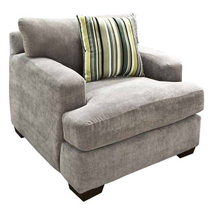 Casual Gray Microfiber Chair   Nebraska Furniture Mart