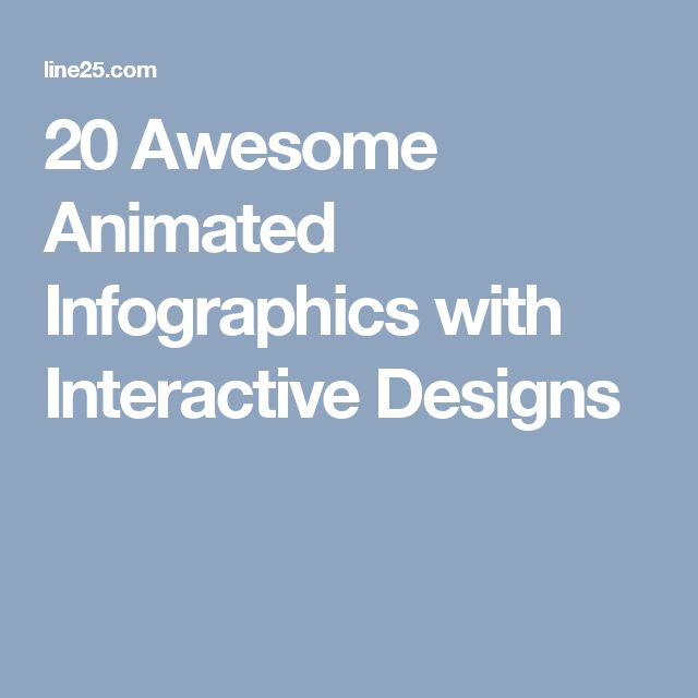 20 Awesome Animated Infographics with Interactive Designs