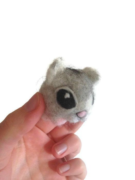 Needle Felted Hamster - Miniature Russian Dwarf Hamster Sculpture (Gypsy) on Etsy, £17.28