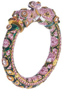 Elephant Mughal bangles from Banaras, circa late-eighteenth century, courtesy Ashok Sancheti, Pioneer Gems, New York.