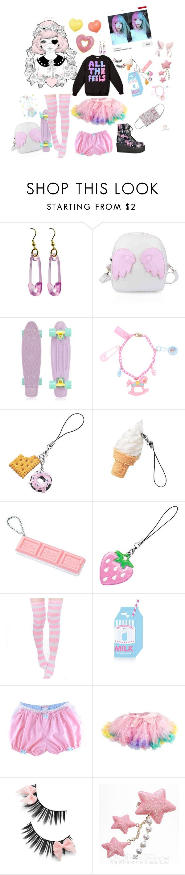 """Pastel goth/ fairy kei for Maeve"" by symba-goes-rawr ❤ liked on Polyvore featuring Retrò and Topshop"