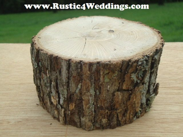 10 Tree Stumps For Safari Wedding by ChurchHouseWoodworks on Etsy, $23.95