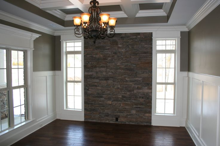Stone accent wall in Dining Room | Kitchen & Dining