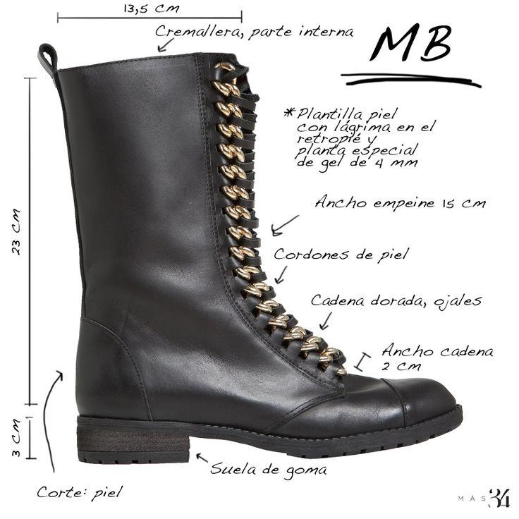 Infografía bota motera MB piel negra MAS34 http://www.mas34shop.com/tienda/bota-mb-piel-negra/