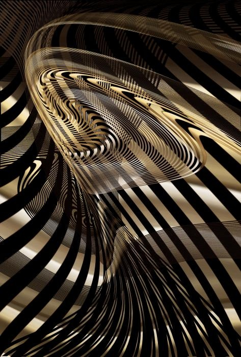Fluid Metal Digital Art  - Fluid Metal Fine Art Print