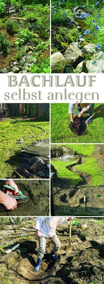 Plätscherndes Wasser im eigenen Garten – das kannst du haben. Einen Bach mit Quelle kannst du selbst anlegen. Wir zeigen dir, wie du den Bachlauf richtig machst, damit du lange Freude daran hast.