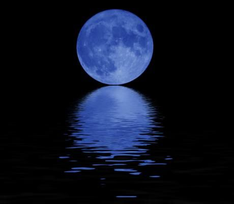 """The present definition of the term """"blue moon"""" is the second full moon in one calender month. Over the span of the last thousand years, a handful of observers noted that the moon appeared blue, but chances are atmospheric dust and ash thrown by massive volcanic eruptions cast the moon in the unusual shade."""