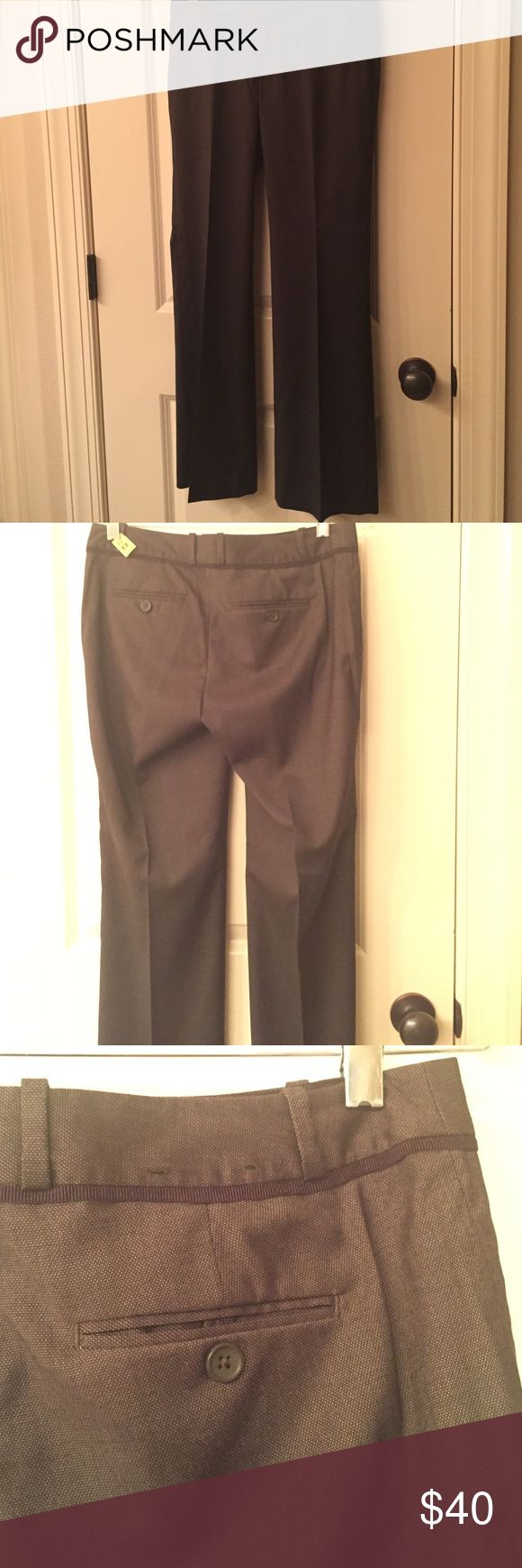 Banana Republic trousers. Very cute. It's a charcoal grey color and nicely patterned with black ribbing under the waist line. Banana Republic Pants Trousers