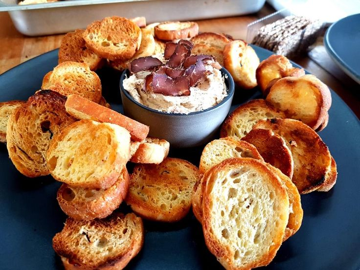 Biltong Pate with butter crostini's